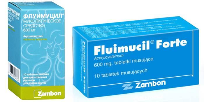 На основе аминокислоты цистеина Флуимуцил