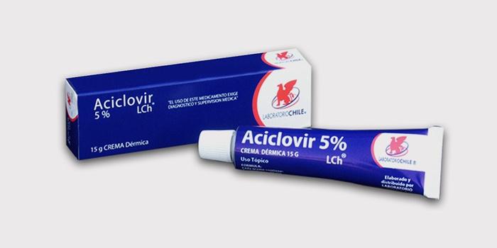 Противогерпетическая мазь Ацикловир