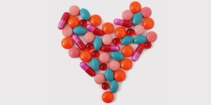 Таблетки в виде сердца