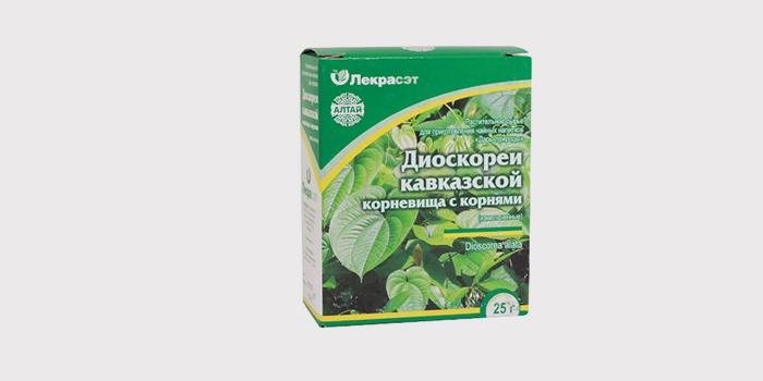 Корни диоскореи кавказской