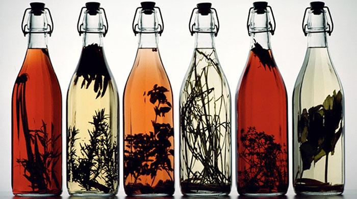 Сборы трав в бутылках