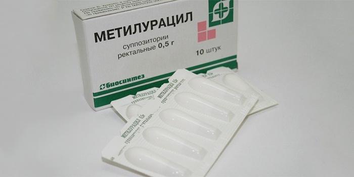 Свечи от геморроя с Метилурацилом