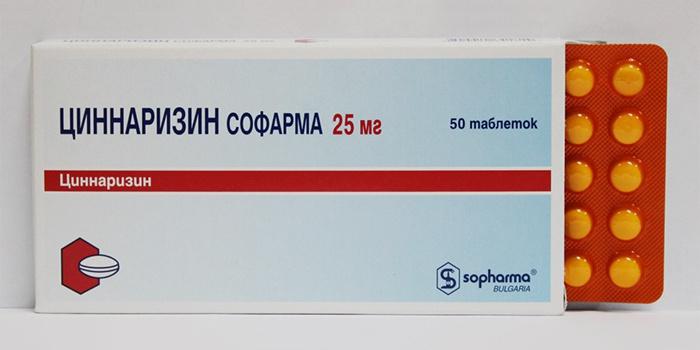 Лекарство Циннаризин от головокружения