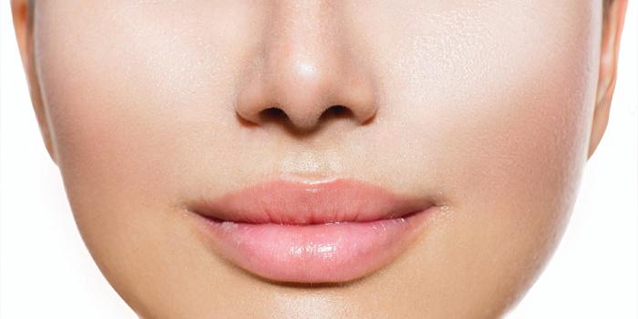 Проявление герпеса на губах