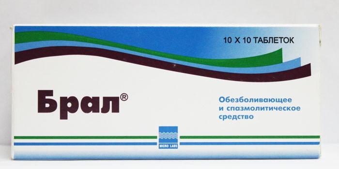 Таблетки Брал в упаковке