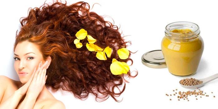 Девушка и горчичная маска для волос