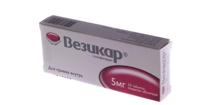 Таблетки Везикар