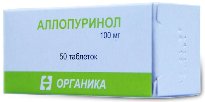 Таблетки Аллопуринол в упаковке
