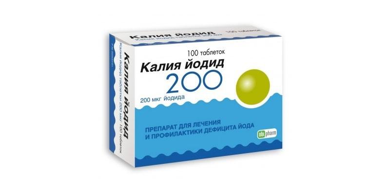 Таблетки Калия йодид