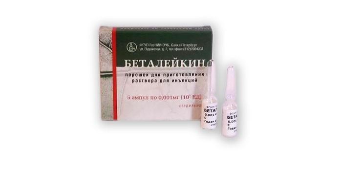 Препарат Беталейкин в ампулах