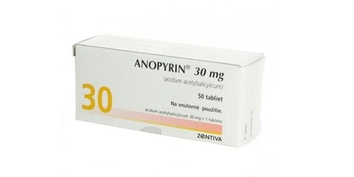 Таблетки Анопирин