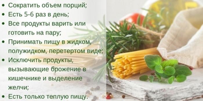 Правила питания на диете № 4