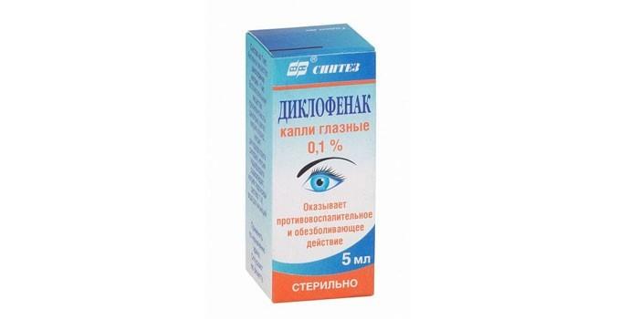 Глазные капли Диклофенак