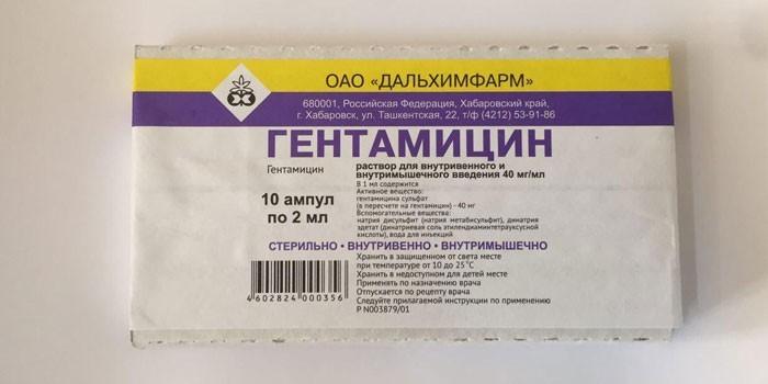 Препарат Гентамицин в ампулах
