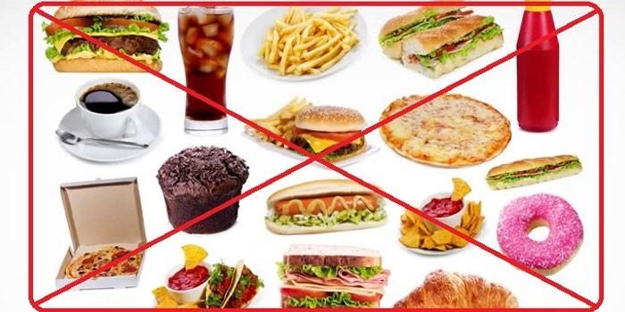 Запрещенные продукты при язве желудка