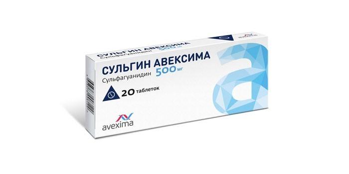 Таблетки Сульгин Авексима