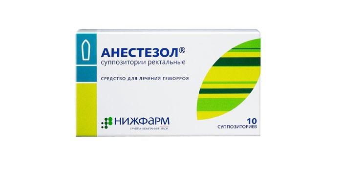 Ректальные суппозитории Анестезол