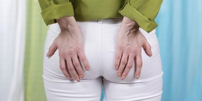 Боль в заднем проходе у женщины