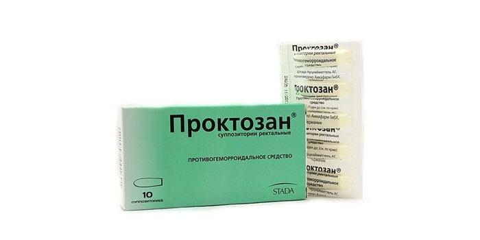 Ректальные суппозитории Проктозан