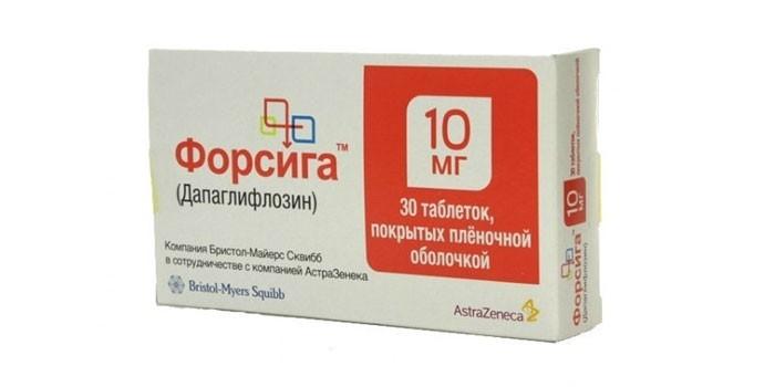Таблетки Форсига