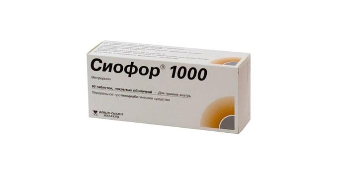 Таблетки Сиофор 1000