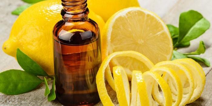 Лимон и эфирное масло
