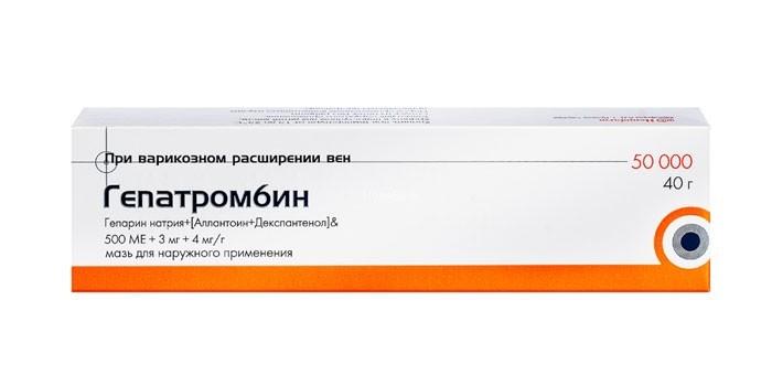 Мазь Гепатромбин