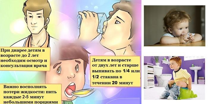Первая помощи при диарее у детей