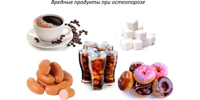 Вредные продукты при остеопорозе