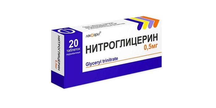 Таблетки Нитроглицерин