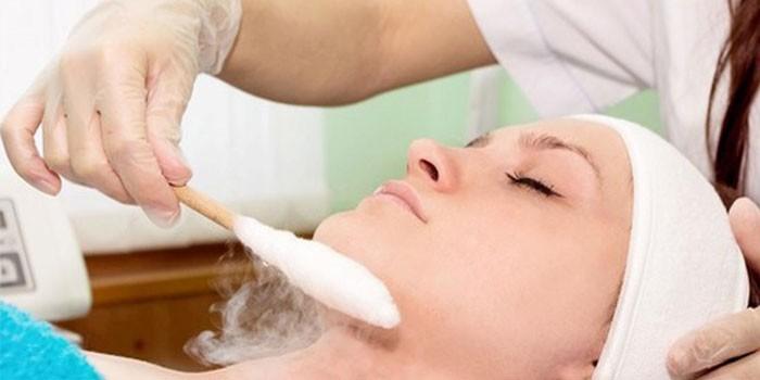 Обработка кожи лица жидким азотом
