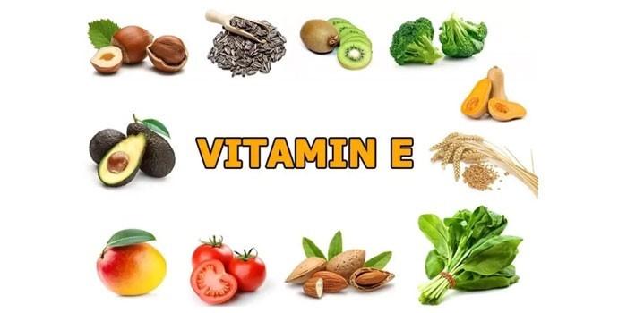 Продукты питания содержащие витамин Е