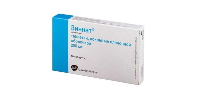 Лекарственное средство Зиннат