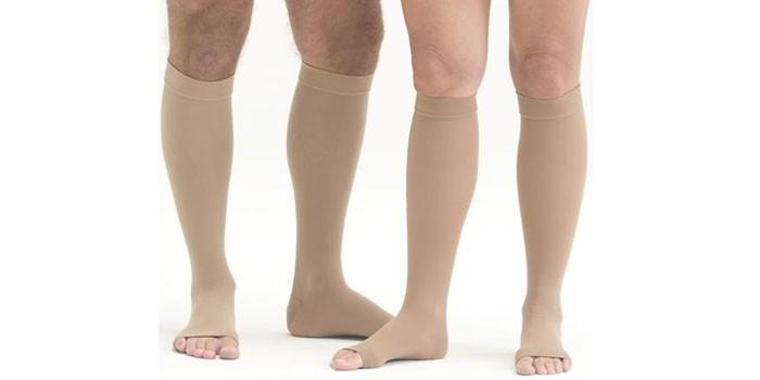 Противоварикозные гольфы с открытым носком