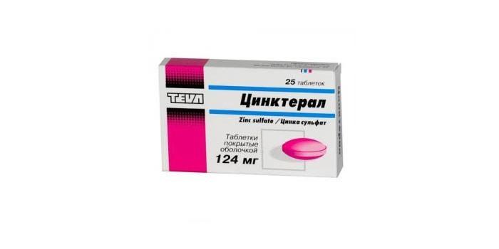Таблетки Цинктерал