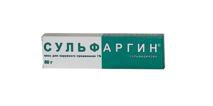 Сульфаргин для наружного применения