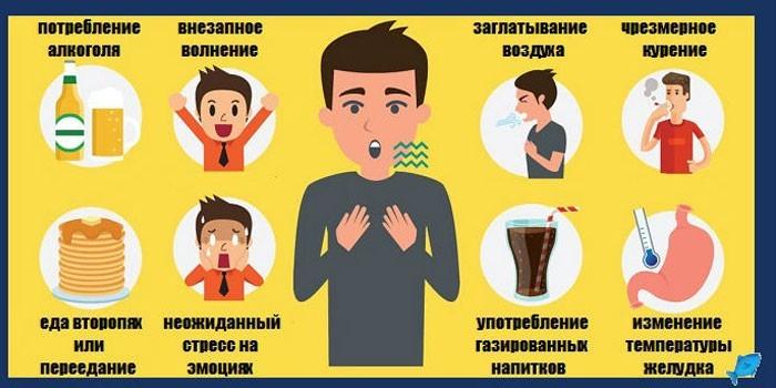 Причины икоты у взрослых
