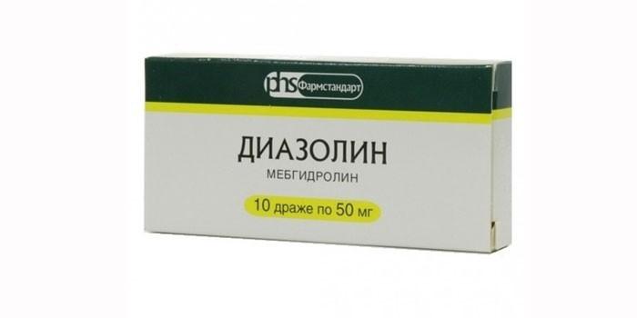 Таблетки Диазолин