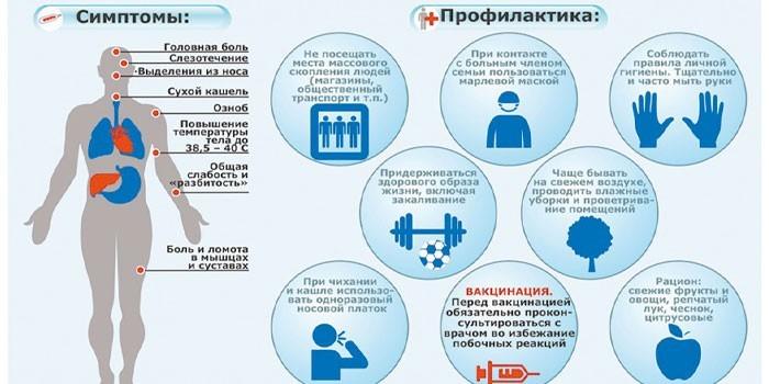 Симптомы и профилактика гриппа