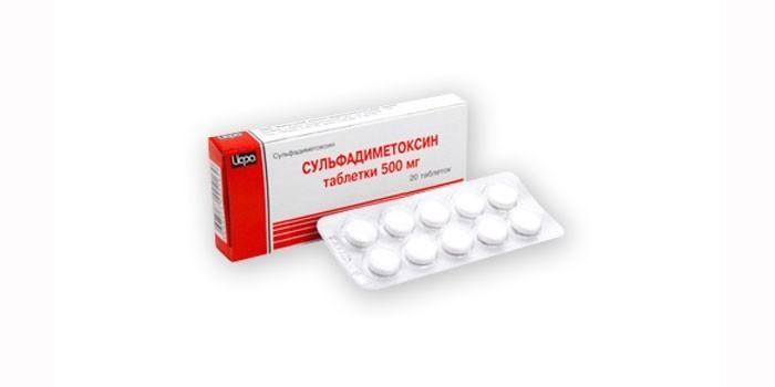 Препарат Сульфадиметоксин