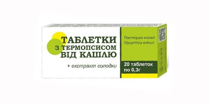 Средство с экстрактом термопсиса и солодки