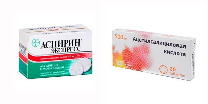 Аспирин Экспресс и Ацетилсалициловая кислота