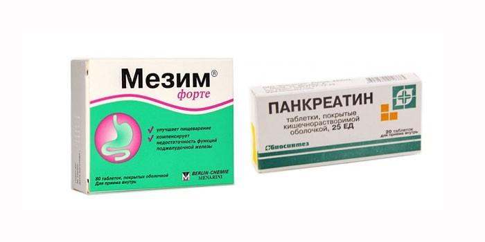 Мезим форте и Панкреатин