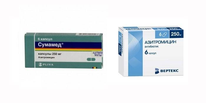 Сумамед и Азитромицин