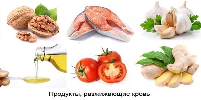 Разжижающие кровь продукты питания