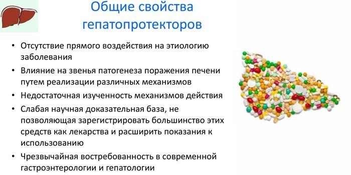 Общие свойства гепатопротекторов