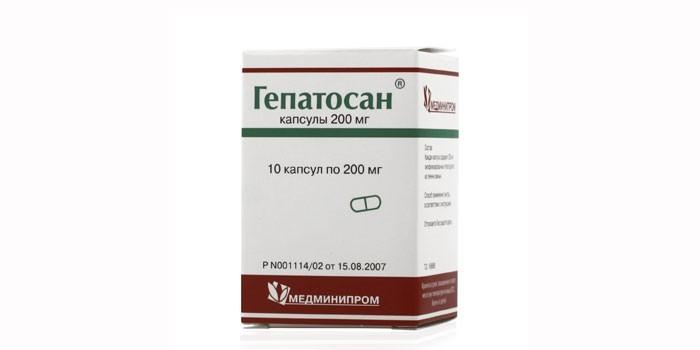 Лекарственное средство Гепатосан