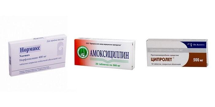 Антибиотики Нормакс, Амоксициллин и Ципролет