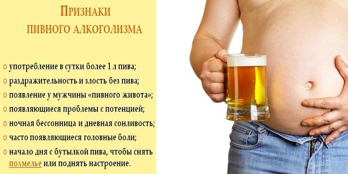 Признаки пивной зависимости