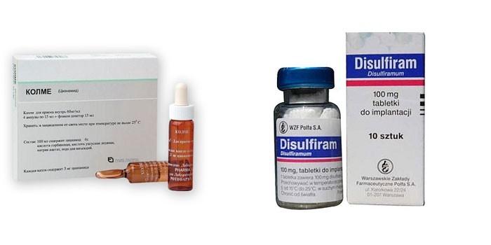 Препараты Колме и Дисульфирам